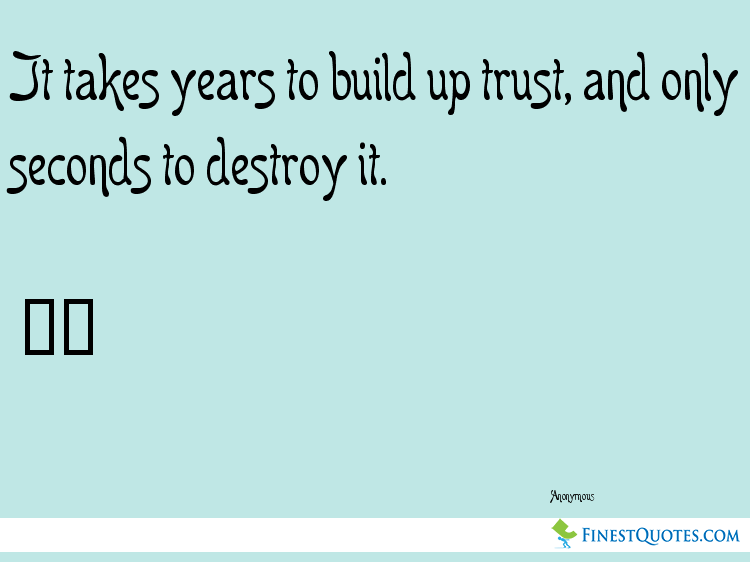 Picture Quote About Trust By Anonymous